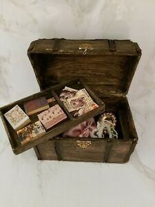 Antique Victorian Treasure Trove Vintage Materials Artist Assembled 1:12