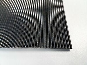 3mm Thick Black Fine Ribbed Ridged Grooved Rubber Mat Lining Sheet Pad A5 A4 A3