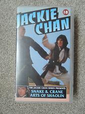 Snake & Crane Arts of Shaolin - VHS PAL Video Tape Cassette - Jackie Chan