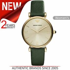 b71f642a9fe Emporio Armani Classic Ladies Watch│Champagne Sunray Dial│Leather  Strap│AR1726