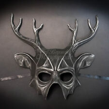 Masquerade Mask Silver Deer Elk Face Mask Halloween Props Animal Costume Unisex