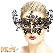 Farfalla Metal Filigree Black Eyemask Womens Halloween Fancy Dress Costume Mask