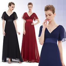 Women's Elegant Chiffon Bridesmaid Dresses V-Neck Long Evening Prom Gowns 09890