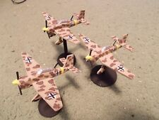 Flames of War 15mm, 1/144 Scale painted German JU-87 STUKA Aircraft (3) Afrika