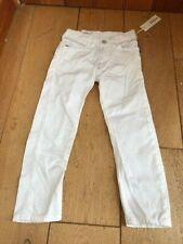 diesel boys bright white cotton poiak k straight jeans 4 y bnwt