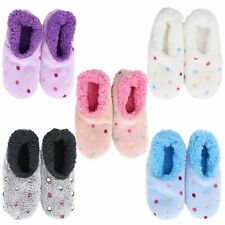 Slumbies Lotsa Dots Style Non-Slip Grip Soles Soft Slippers Socks *FREE DELIVERY