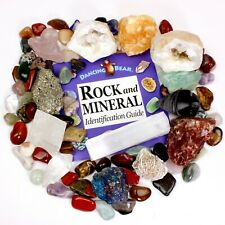 Rock & Mineral Collection Pyrite, Arrowhead, Qtz Pt.,Tumbled Stones, Book, Geode