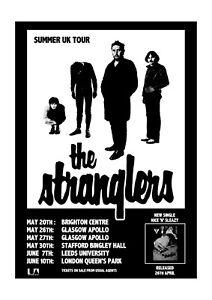 The Stranglers Poster Print - Summer Tour 1978 - Punk Rock.