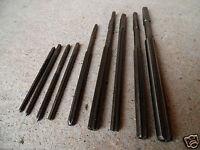 (n°1) old tool /  OUTIL ANCIEN, lot de 9 alésoirs