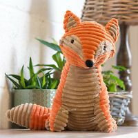 Orange Novelty Fabric Fox Door Stop 1.5kg Animal Weighted Stopper Gift For Home