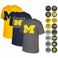 """MICHIGAN WOLVERINES ADIDAS GRAPHIC """"GO-TO"""" T-SHIRT COLLECTION BY ADIDAS MEN'S"""