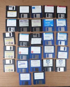 """Vintage Lot of 27 - 3.25"""" floppy diskettes disks Sport, etc"""