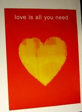 Beatles Love is All You Need Poster