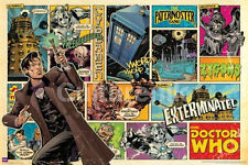 DOCTOR WHO - COMIC STRIP POSTER - 24x36 BBC BRITISH TV DR CLASSIC 5608