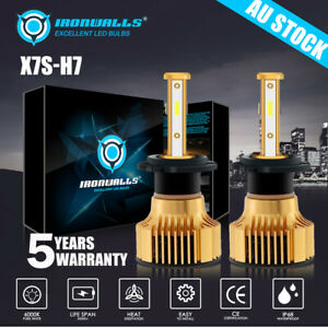 Pair H7 4 Sides LED Headlight Bulbs for Holden VF Commodore Low Beam SS SSV HSV