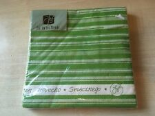 BNIP New Jet by Ter Steege Pack of 20 3-Ply Paper Napkins - 33cm - Green Stripes