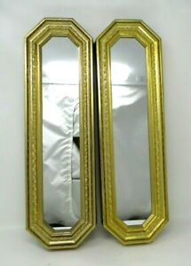 Vintage Gold Frame Mirrors Home Interiors octagon rectangle wall hanging accent