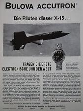 8/1963 PUB BULOVA ACCUTRON ASTRONAUT X-15 UHR WATCH MONTRE SUISSE GERMAN AD