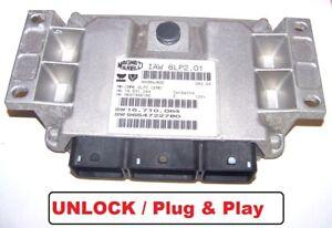 Control Unit Peugeot 307 1,4l 65KW Kfu IAW6LP2.01 SW9654722780 1938WW Unlock ECU