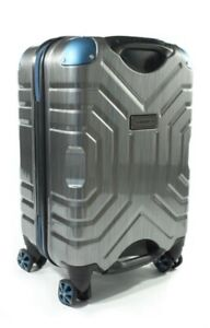 Carry-on luggage by: Shark Wheel (Silver & Blue)
