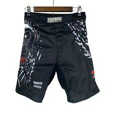 Tatami Fightwear Black Honey Badger V4 MMA Fight Shorts Muay Thai Size 30