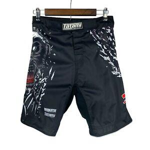 Tatami Fightwear Honey Badger V4 MMA sz 30 Black Fight Shorts Muay Thai
