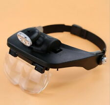 3 LED Adjustable Magnifying Glass Dental Surgical Loupe Watch Repair Reading