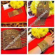 INDIAN Adjustable 1Gold Stone hand bracelet Uptill 2.10/2*12, hath panja, bangle
