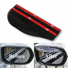 Universal Rear View Black Side Mirror Rain/Snow Shield For Car/Truck (2 Pieces)