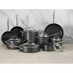 Member's Mark 15-Piece Hard Anodized Aluminum Non-stick Cookware Set NEW