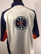 Nike Team Sports Men's Large Warm Up Full Zip Shirt Basketball Polyester