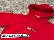 SUPREME BOX LOGO HOODED SWEATSHIRT L RED LARGE FW16 HOODIE 2016 BOGO GENUINE