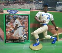 1988  GLENN BRAGGS - Starting Lineup Baseball Figure & Card - MILWAUKEE BREWERS