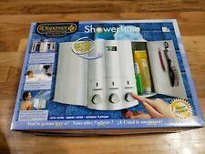ShowerTime The Dispenser 78834 /3 Bottle Shower Dispenser, Chrome/Silver Color
