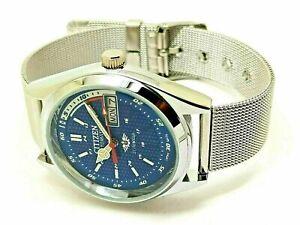 Citizen Automatic Japan Made Movement No.8200 Day& Date Men's Wrist Watch