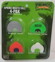 Primos Spring Mouth Call 4 Pack Diaphragm Calls Turkey. Hunting Gobbler Tom Jake