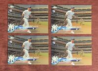 Lot of (4) 2018 Topps Chrome Update GLEYBER TORRES Rookie Debut #HMT33 RC🔥