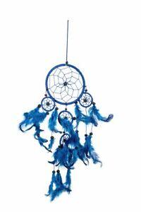 50cm x 11cm Dreamcatcher Traumfänger Blau Blaue Federn Fair Trade Dream Catcher