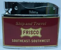 Flat Advertising Lighter Frisco Travel With Box Made In Japan