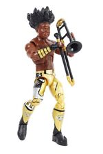 XAVIER WOODS NEW DAY BOOTY O's WWE ACTION ELITE FIGURE w/ TROMBONE FROM 3pk 2016