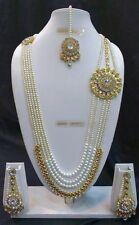 Indisch Ethnisch Modeschmuck Hochzeit Vergoldet Perle Strang Halskette Schmuck