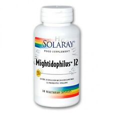 Solaray mightidophilus ™ 12 bacterias probióticas 30 cápsulas vegetarianas