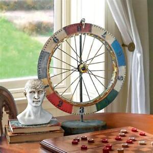 Carnival Chance Metal Gaming Wheel Antique Replica Distressed Folk Art Sculpture