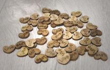 """50 Streuherzen Holz """"Love"""" ideal für Hochzeitsdekoration oder Kartengestaltung"""
