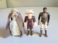 Vintage Star Wars Lot of 3 Squid Head, Lando Skiff and Ree Yees