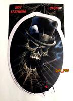 SKULL SPIDER WEB BLACK WIDOW DECAL STICKER WINDOW BUMPER biker hot rod hearse