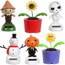 Solar Powered Dancing Flip Flap Solar Dancer Bobble Toy Flowers Bugs Animals