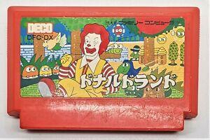 Genuine Donald Land Video Game for Nintendo Famicom JAPANESE TESTED