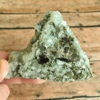 """Aragonite w/ Fluorite and Pyrite Crystal Cluster: 10.4 oz (296 g); 3.75"""" Long"""