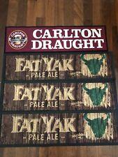 Carlton Draught & Fat Yak Pale Ale Bar Mats X4 Mancave Home Bar